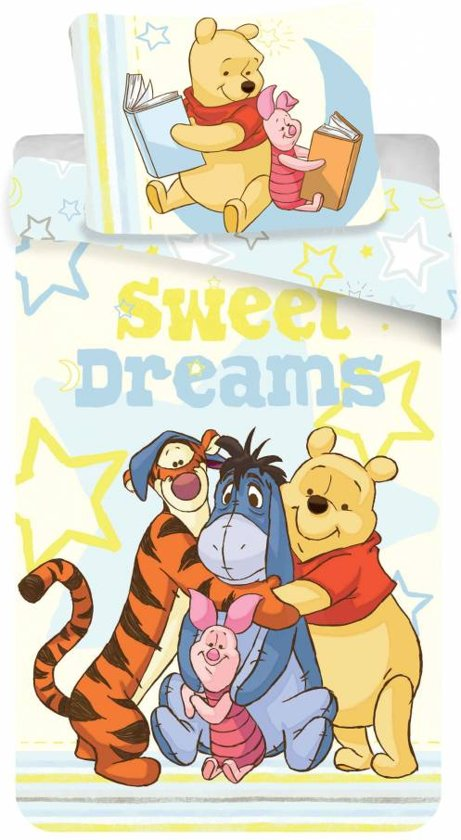 Disney Winnie the Pooh Sweet Dreams - Dekbedovertrek - Eenpersoons - 140 x 200 cm - Multi
