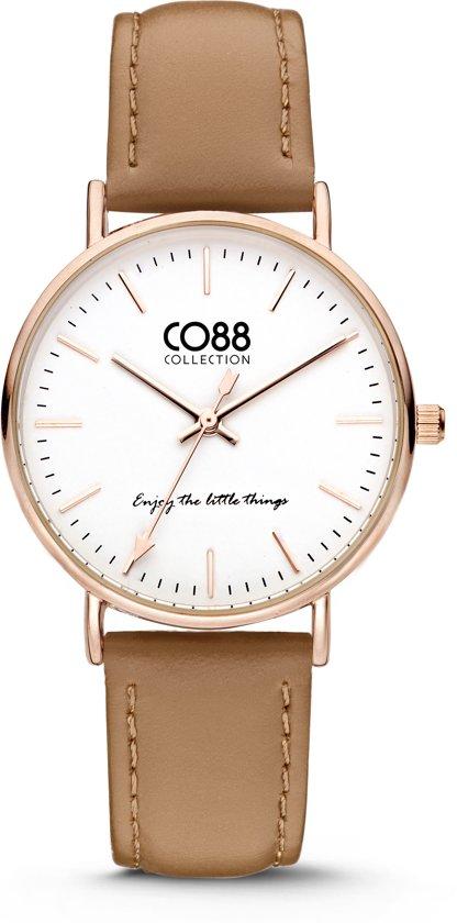 CO88 Collection Watches 8CW 10005 Horloge - Leren Band - Ø 36 mm - Bruin