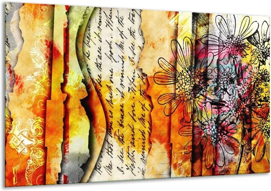 Canvas schilderij Art   Geel, Oranje   120x70cm 1Luik