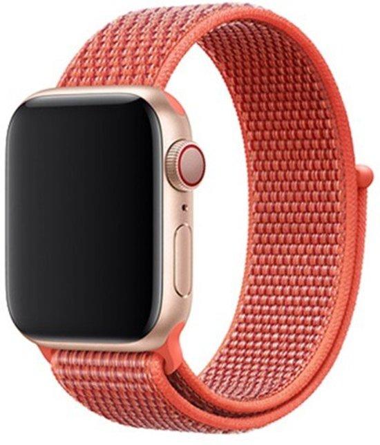 KELERINO. Nylon bandje - Apple Watch Series 1/2/3/4 (38&40mm) - Nectarine