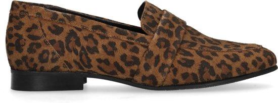 Manfield - Dames - Loafers met panterprint - Maat 39