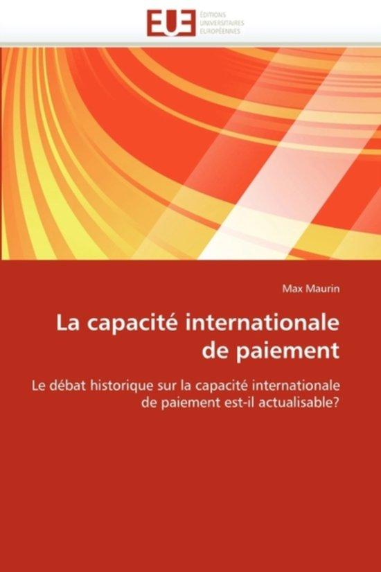 La Capacit� Internationale de Paiement