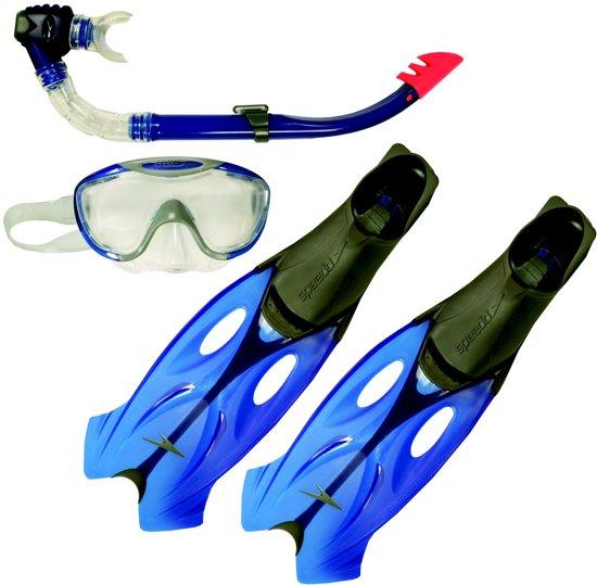 2f22e5021327eb Speedo Glide Set (Mask/Snorkel/Fins) Unisex Snorkelset - Grijs-Blauw