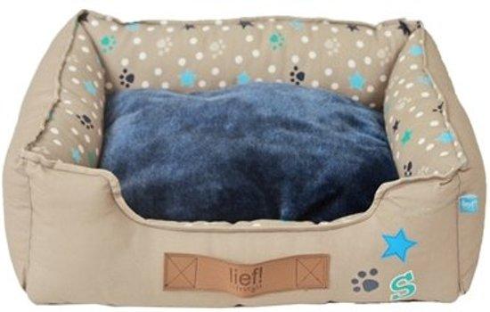 Lief! Boys Kattenmand - Beige/Blauw - 40 x 30 cm