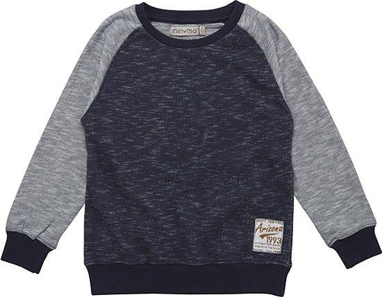 Minymo- jongens sweatshirt - Evan - blauw - Maat 134