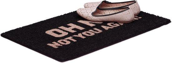 relaxdays - deurmat Oh No - kokosmat - voetmat - mat voordeur - kokosvezels