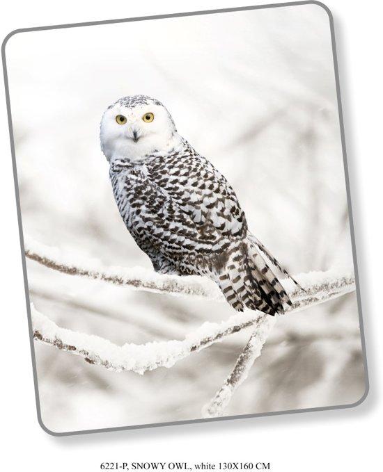 Elegante Plaid Snow Owl 130x160 - Prachtige Design - Heerlijk Zacht