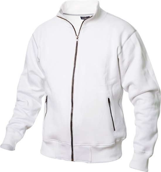 Logan sweatjacket 330 g/m2 wit m
