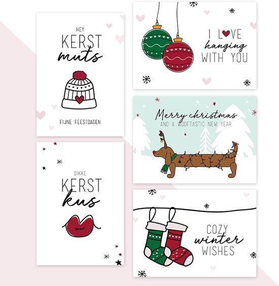 Kerstkaarten - set van 10 - Geluksbrengertje