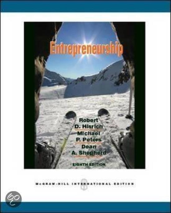 Boek cover Entrepreneurship van Robert D. Hisrich (Paperback)