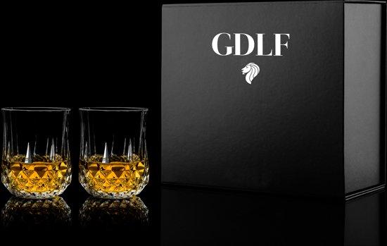 GDLF Zware whisky glazen met de bekende bel Giftbox