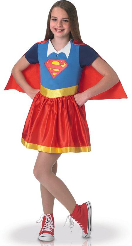 Supergirl™ Superhero Girls kostuum voor meisjes - Verkleedkleding - Maat 122/128