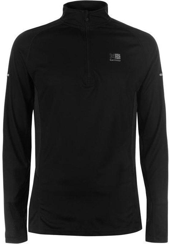 Karrimor Hardloop shirt lange mouw ¼ Zip - Runningshirt - Heren - Zwart - S