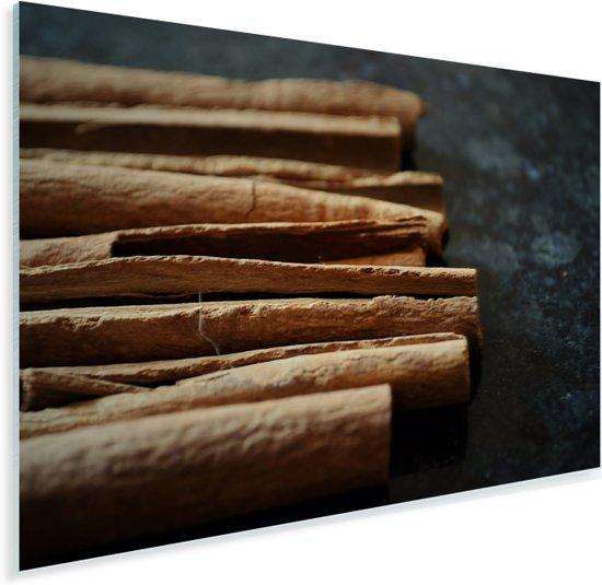 Mysterieuze foto van de waanzinnige kaneelstengels Plexiglas 90x60 cm - Foto print op Glas (Plexiglas wanddecoratie)