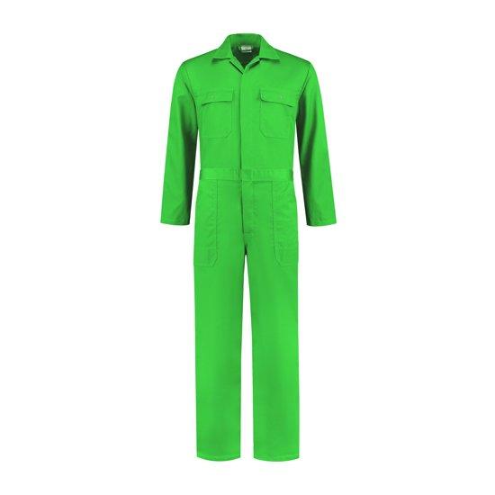 Yoworkwear Kinderoverall polyester/katoen appelgroen maat 140
