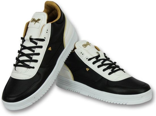 a89e81406ae Cash Money Schoenen Heren Online - Mannen Sneaker Luxury Black White -  CMS72 - Zwart -