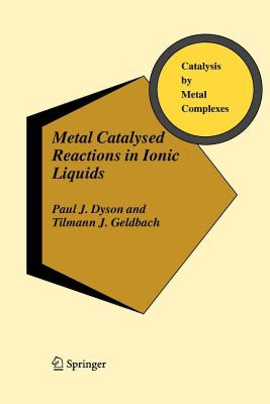 Metal Catalysed Reactions in Ionic Liquids
