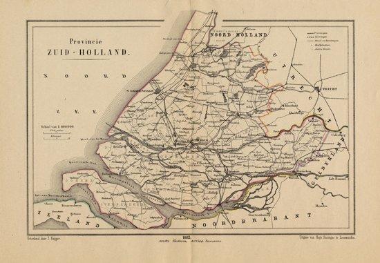 Bol Com Historische Kaart Plattegrond Van Provincie Zuid