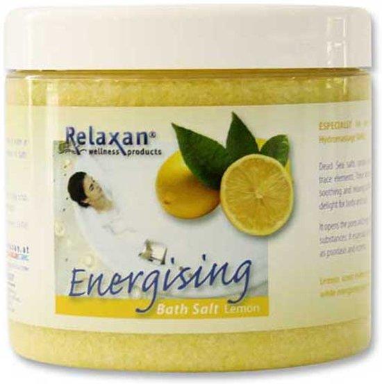 Relaxan dode zee badzout citroen aroma, speciaal voor gebruik in bad of whirlpool