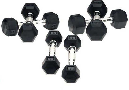 Hexa Dumbbells Focus Fitness - 2x 1 kg