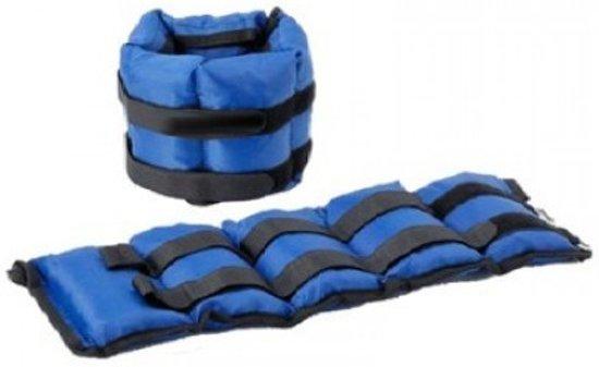 RS Sports verstelbare Enkelgewichten – Gewichtsmanchetten 2 x 2250 gr – nylon - zwart / blauw