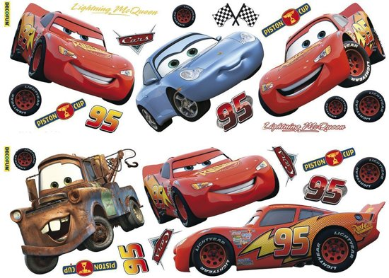 Cars Muurstickers Kinderkamer.Disney Cars Muurstickers 70x25 Cm
