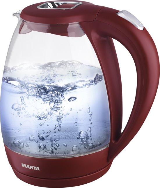 bol.com | MARTA MT-1055 elektrische glazen waterkoker met ...