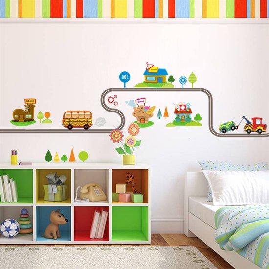 Bol muursticker voor kinderen autoweg met autos muursticker voor kinderen autoweg met autos kinderkamer 147x40cm thecheapjerseys Gallery