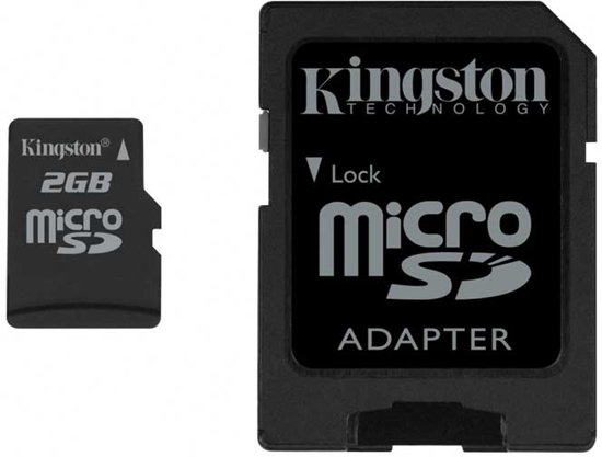 Kingston microSD geheugenkaart met 1 SD adapter - 2GB