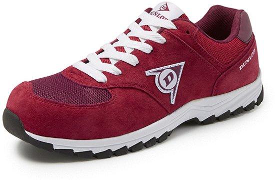 Dunlop Shoes Flying Arrow Rood Lage Veiligheidssneakers S3 Uniseks 46