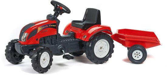 Falk 'Ranch Trac' rode traptractor incl. aanhanger