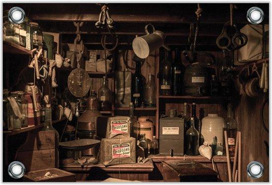 Tuinposter Garage / Storage 120x80cm- Foto op Tuinposter (wanddecoratie voor buiten en binnen)