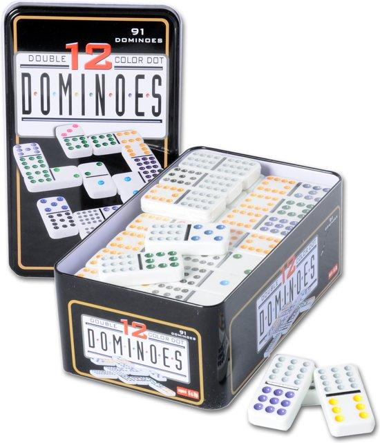 Afbeelding van het spel Longfield Games Domino Dubbel 12 - Blik