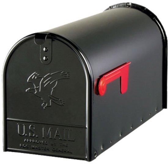 Amerikaanse brievenbus / US mailbox (zwart, staal)