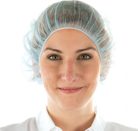 Haarnetje per 100 stuks blauw - haarnetjes