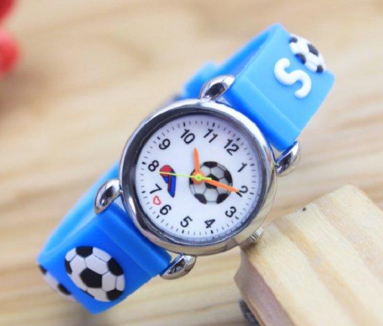 Kinder horloge- Voetbal- blauw 2
