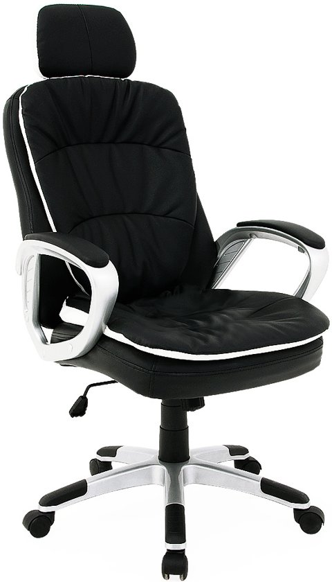Bureaustoel Met Hoofdsteun.Bureaustoel Met Flexibele Hoofdsteun Directiestoel Kantoorstoel Zwart