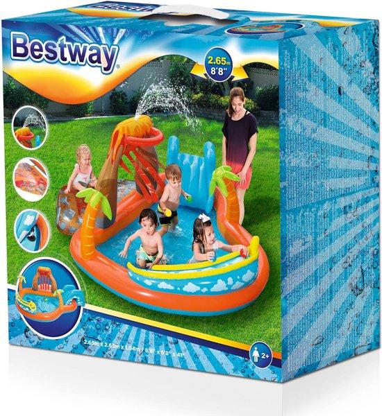 Bestway Tropisch Eiland Opblaasbaar Speelcenter - 265x265x104 Cm