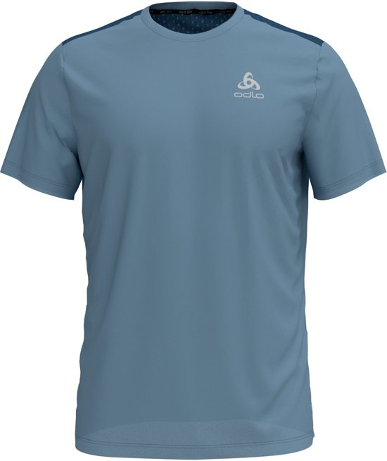 Odlo Bl Top Crew Neck S/S Millennium Linencool Sportshirt Heren - Faded denim