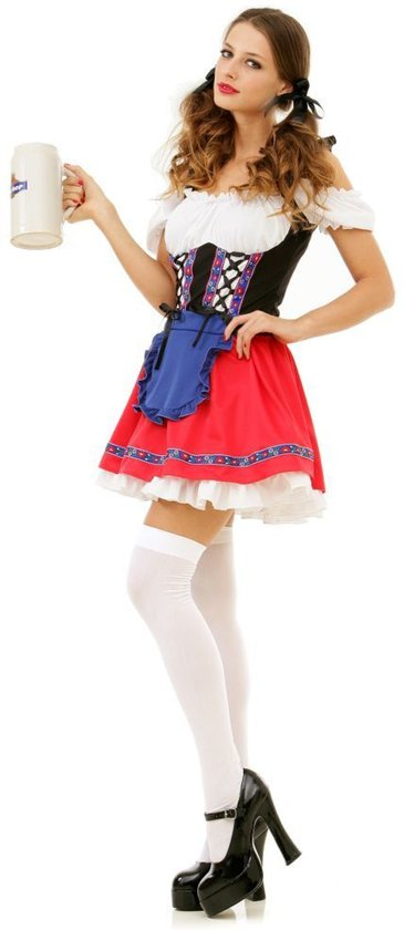PartyXclusive Dirndl Dames Romy Rood - L