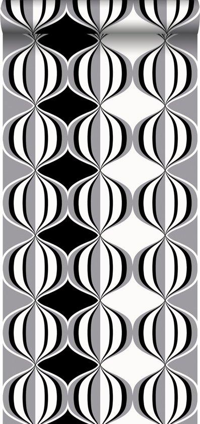HD vliesbehang retro delight zwart en grijs - 135438 van ESTAhome.nl