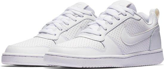 d8d07cb40e3 bol.com | Nike Court Borough Low Sneakers Dames - White/White-White ...