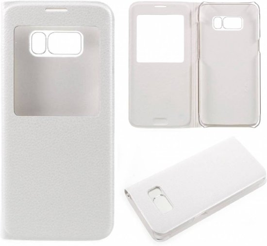 GSMWise - Samsung Galaxy S8 - Window View kunstleren Flip Case Hoesje - Wit in Forges