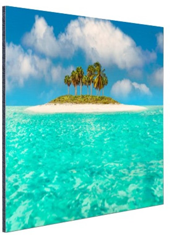 Caribisch eiland  Aluminium 30x20 cm - Foto print op Aluminium (metaal wanddecoratie)