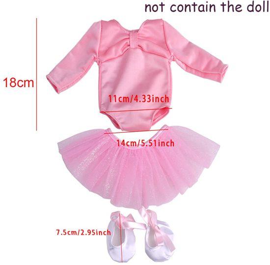 Poppenkleertjes ballet pakje, 3-delig, roze