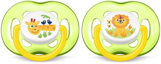 Philips Avent SCF186/23 - Fopspeen 18m+ - Groen/wit - 2 stuks