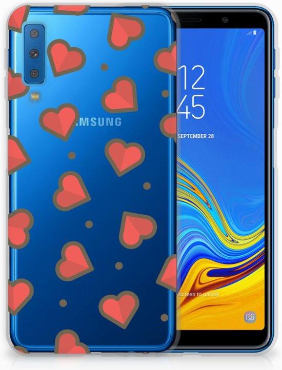 Samsung Galaxy A7 (2018) Siliconen Backcase Design Hearts