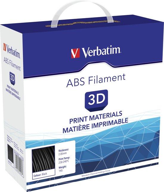 Verbatim 55018 3D Printer Filament ABS 2.85mm 1kg Zwart