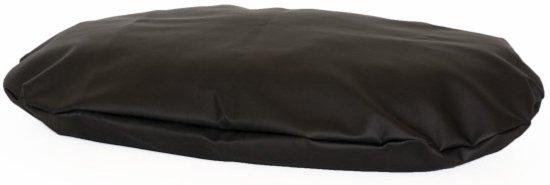 Comfort Kussen Hondenkussen Ovale leatherlook 87 x 57 cm - Zwart