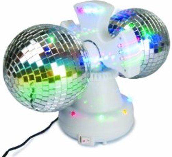 bol.com | Electrische roterende duo discobal met LED verlichting ...